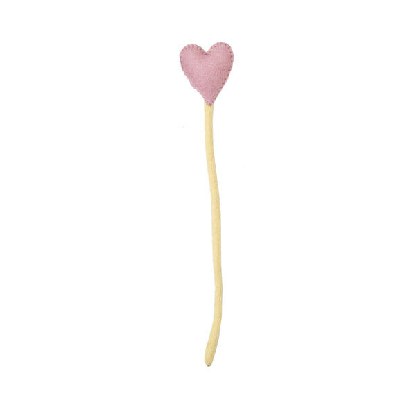 Blush Heart Stems Sticks Handmade in Nepal women artisans | Global Goods Partners handcrafted wool adjustable stem home decor valentine's day gifts idea for women empower giving back