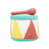 Drum Felt Musical Instruments Handmade in Nepal women artisans | Global Goods Partners fair trade wool music toys for kids gifts idea babyshower singer musician artist sustainability conscious purchase eco-friendly