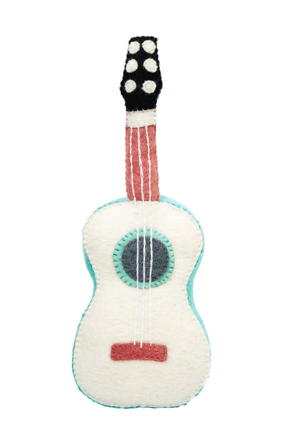 Guitar Felt Musical Instruments Handmade in Nepal women artisans | Global Goods Partners fair trade wool music toys for kids gifts idea babyshower singer musician artist sustainability conscious purchase eco-friendly