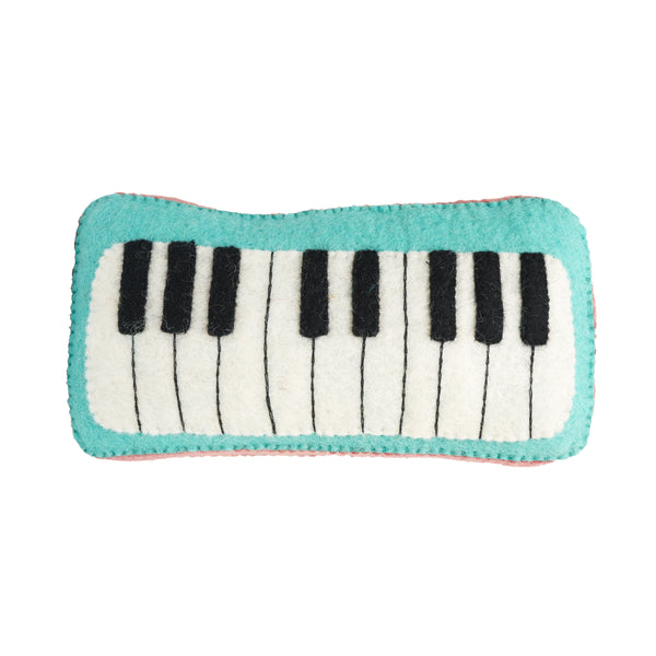 Keyboard Felt Musical Instruments Handmade in Nepal women artisans | Global Goods Partners fair trade wool music toys for kids gifts idea babyshower singer musician artist sustainability conscious purchase eco-friendly Piano