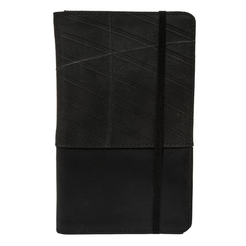Global Goods Partners | Friends International Recycled Upcycled Tire Car Bike Cambodia Street Children Gifts That Give Back Men Boyfriend Dad Grandpa Grandfather Brother Black Passport Holder Vinyl Large Wallet Case