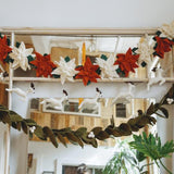 Santa and Reindeer Garland