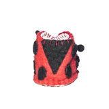 Felt Ladybug Baby Booties: Handmade Kyrgyzstan children slippers warm cozy