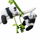 Panda Friends Mobile handmade in Peru | Global Goods Partners  cute Alpaca Wool handcrafts women artisan children room decor