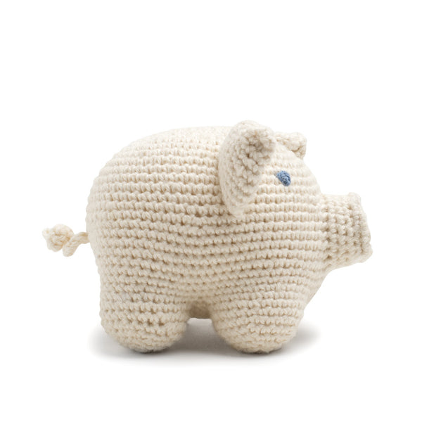 Organic Cotton Piggy Toy: Handmade in Peru Cuddle Toy Children Global Goods Partners