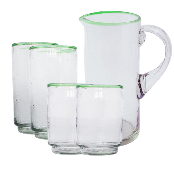 Pitcher & Stacking Glass Set