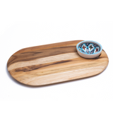 Teak Serving Board & Bowl Set