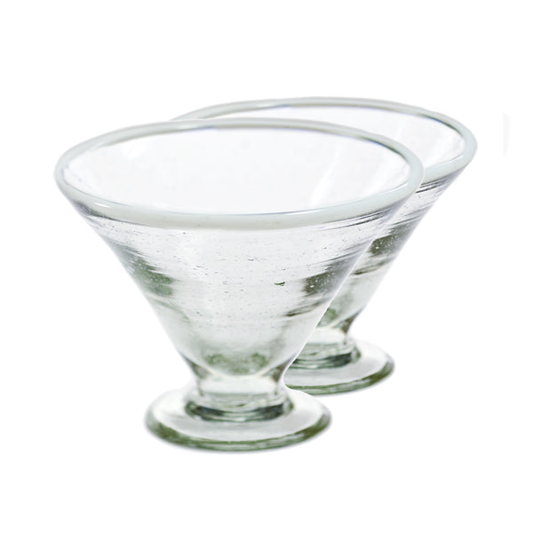 White Margarita Glass Set