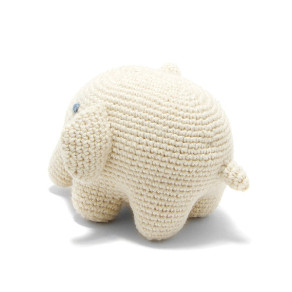 Organic Cotton Elephant Toy: Handmade in Peru Cuddle Toy Children Global Goods Partners