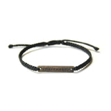 Peacemaker Bracelet, Unisex Black: Handmade in Guatemala Social Impact Global Goods Partners