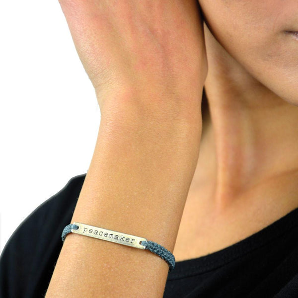 Peacemaker Bracelet Pewter: Handmade in Guatemala Social Impact Global Goods Partners women artisan
