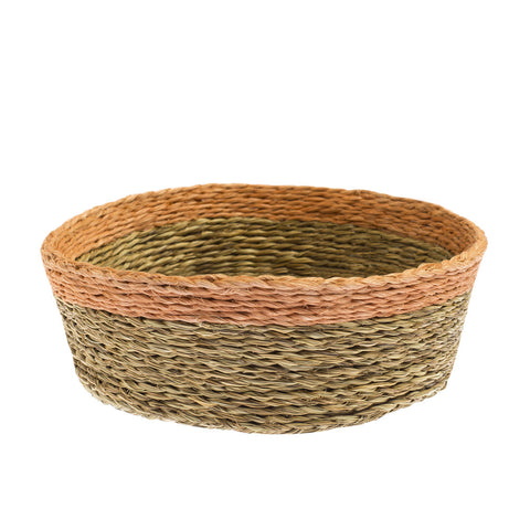 Blush Handwoven Swazi Basket handmade in Swaziland | Global Goods Partners eco-friendly lutindzi grass natural