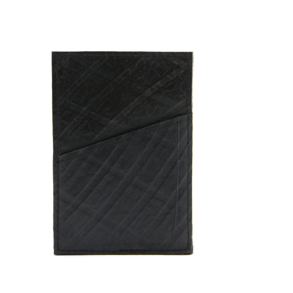 Recycled Tire Card Holder handmade by artisan women in Cambodia | Global Goods Partners color black eco-friendly sustainability environmental conscious green recycling collection earth day fair trade handcrafted gifts idea for men guy