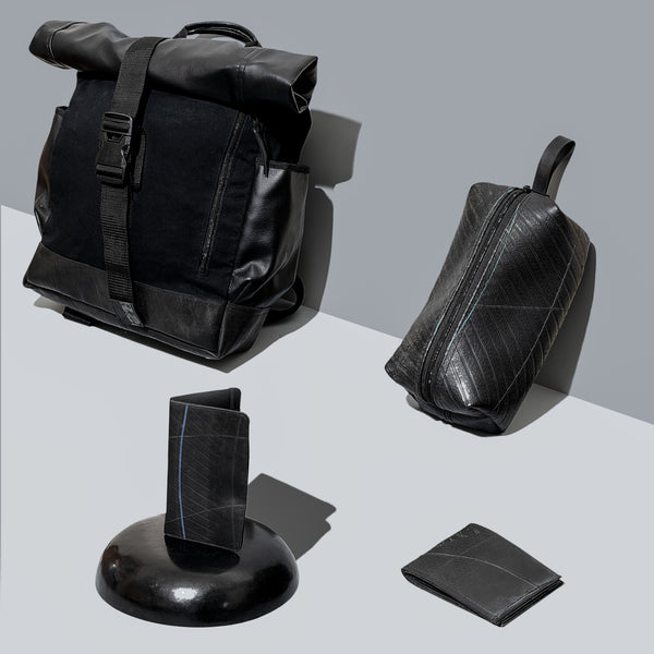 Men's Recycled Tire Travel Kit