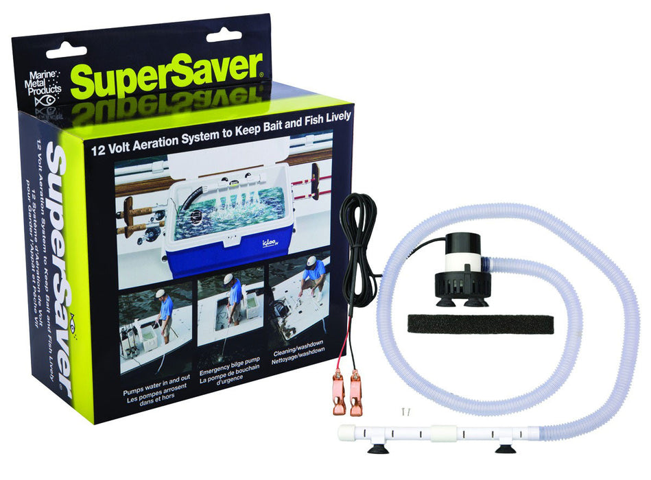 Marine Metal SS-212 Super Saver Livewell Kit 12V DC Aerates 25 to 30 Gallons
