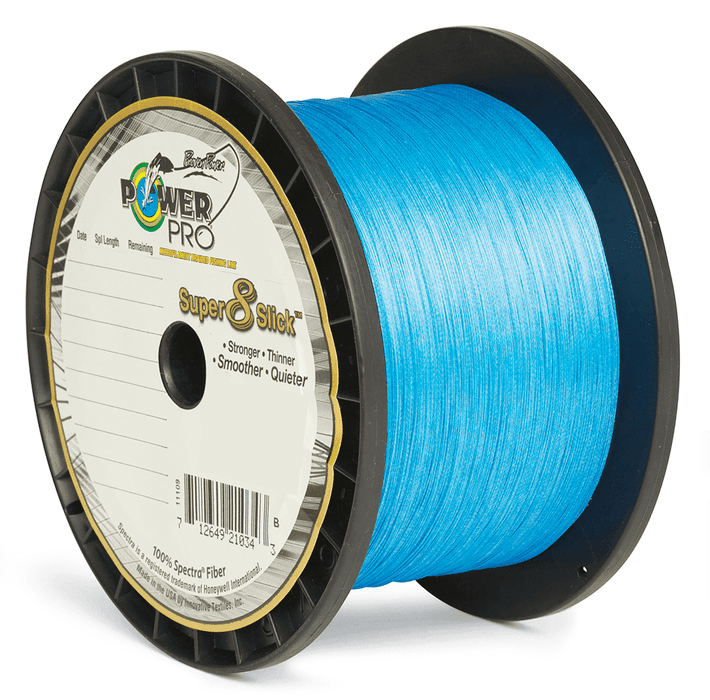 Super 8 Slick 1500yd Braided Line - Marine Blue - Power Pro