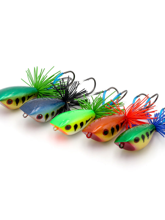 EJF Topwater Jump Frog Peacock Series
