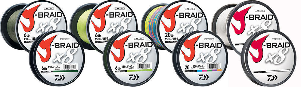 J-Braid x8 Braided 20lb 165yd/150m - DAIWA
