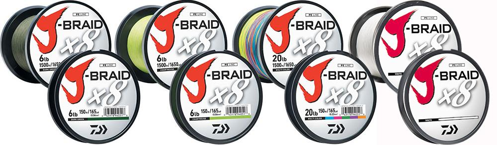 J-Braid x8 Braided 40lb 165yd - DAIWA
