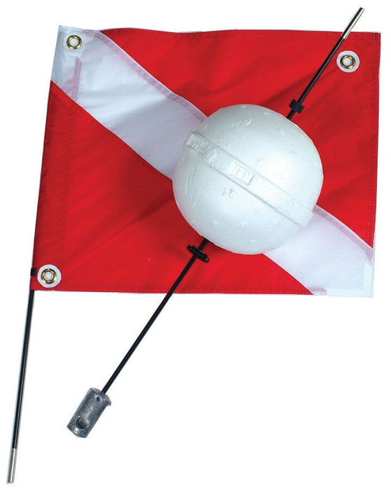 Dive flag with buoy
