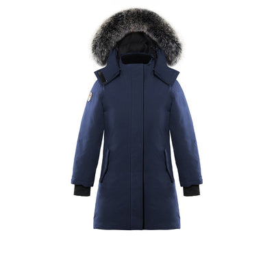 Ellaria Girl's Waterproof Parka Triple F.A.T. Goose Navy 8