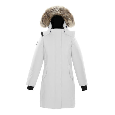 Ellaria Women's Waterproof Parka Triple F.A.T. Goose White XS