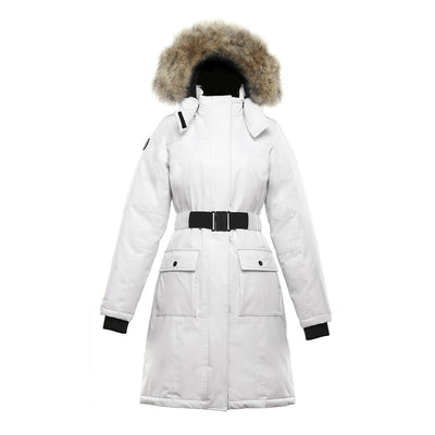 Estelle Women's Belted Down Parka Triple F.A.T. Goose White XS