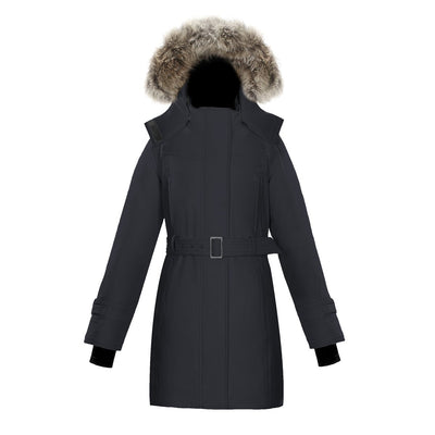 Olevia Women's Belted Down Parka Triple F.A.T. Goose Black XS