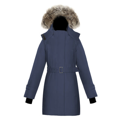 Olevia Women's Belted Down Parka Triple F.A.T. Goose Navy XS
