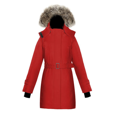 Olevia Women's Belted Down Parka Triple F.A.T. Goose Red XS