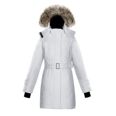 Olevia Women's Belted Down Parka Triple F.A.T. Goose White XS