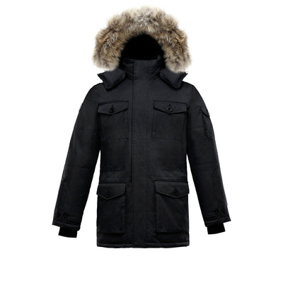 Eldridge Men's Goose Down Parka Triple F.A.T. Goose Black S
