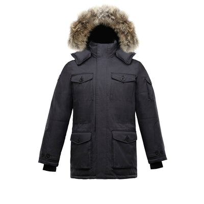 Eldridge Men's Goose Down Parka Triple F.A.T. Goose Charcoal S