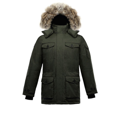 Eldridge Men's Goose Down Parka Triple F.A.T. Goose Olive S