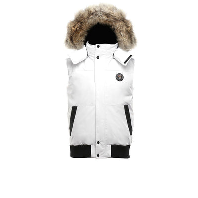Huntley Men's Vest Fur Hood Triple F.A.T. Goose White S