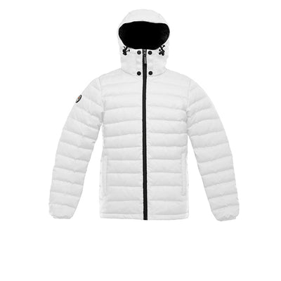 Logan Men's Lightweight Down Jacket Triple F.A.T. Goose White S