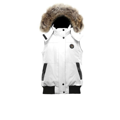 Huntley Women's Hooded Down Vest Triple F.A.T. Goose White S