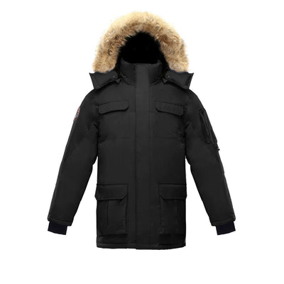 Chenega Parka (Men's) Triple F.A.T. Goose Black With Fur S
