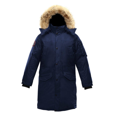 Eberly Parka (Men's) Triple F.A.T. Goose Navy With Fur M