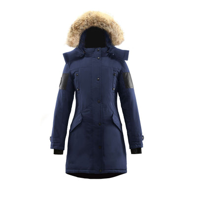 Embree Parka (Women's) Triple F.A.T. Goose Navy With Fur XL