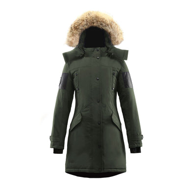 Embree Parka (Women's) Triple F.A.T. Goose Olive With Fur S