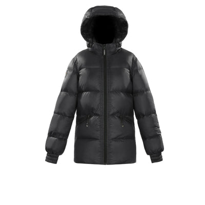 Adena Women's Lightweight Puffer Jacket Triple F.A.T. Goose Black XS