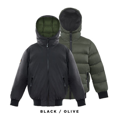 Verso Boy's Reversible Down Jacket Triple F.A.T. Goose Black 8/10