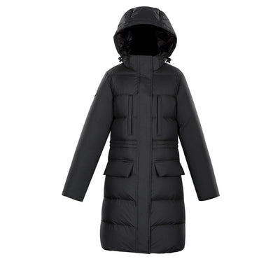 Fara Women's Puffer Down Jacket Triple F.A.T. Goose Black XS