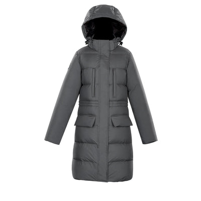 Fara Women's Puffer Down Jacket Triple F.A.T. Goose Charcoal XS