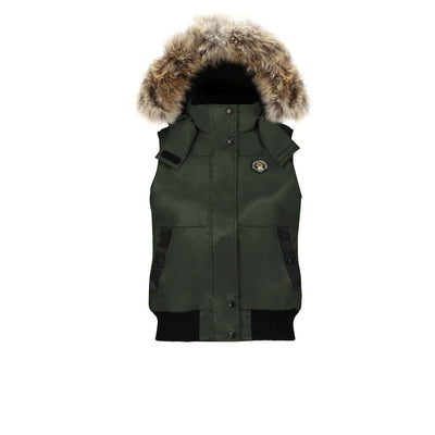 Huntley Women's Hooded Down Vest Triple F.A.T. Goose Olive S