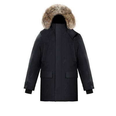 Huron Men's Waterproof Parka Triple F.A.T. Goose Black S