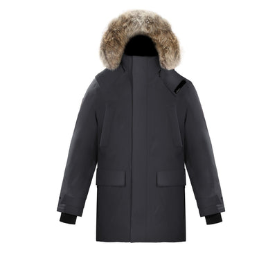 Huron Men's Waterproof Parka Triple F.A.T. Goose Charcoal S