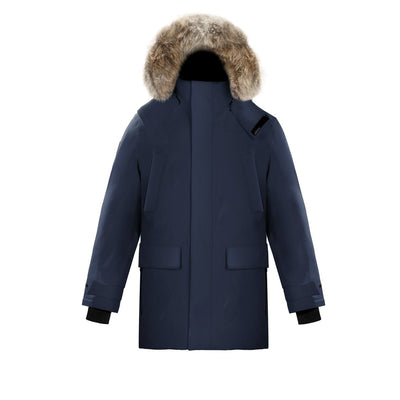 Huron Men's Waterproof Parka Triple F.A.T. Goose Navy S