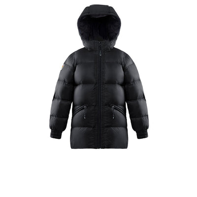 Adena Girl's Lightweight Puffer Jacket Triple F.A.T. Goose Black 8